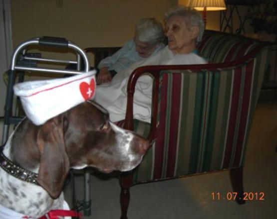 Nurse Maggie at work